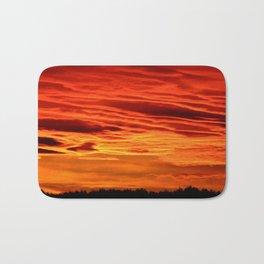 Flame Coloured Sunset Sky Bath Mat