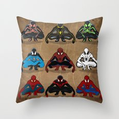 Spider-man - The Year of the Costumes Throw Pillow
