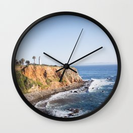 Point Vicente Lighthouse (color version) Wall Clock