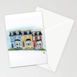 Jellybean Row - Newfoundland houses, buildings Stationery Cards