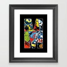 Classic comic heroes Framed Art Print