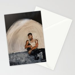 Giveon,album,take time,oil painting,small canvas,art,original,poster,fan art,cool,dope,wall decor,ab Stationery Cards