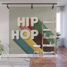 HIP HOP - typography Wall Mural