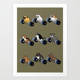 5 plates deadlift Puppies Art Print