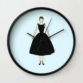Audrey Vintage Retro Fashion 1 Wall Clock