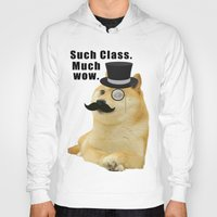 doge Hoodies featuring Classy Doge by Tayler Smith
