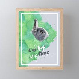 One hop at a time Framed Mini Art Print