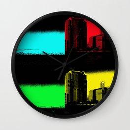 Miami Popart Panorama Wall Clock