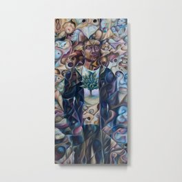 Human 2015 (original oil painting on canvas by Alex Lavrov) 36x18 inches, surrealism, expressionism, Metal Print