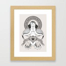 Vanity - Peacock Framed Art Print