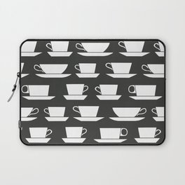 Pattern of Coffee and Tea Cups Laptop Sleeve