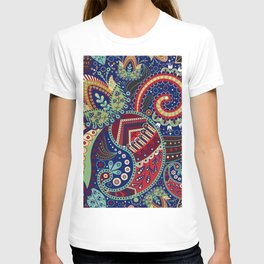 Colorful khohloma pattern T-shirt