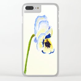 one  pansy Clear iPhone Case