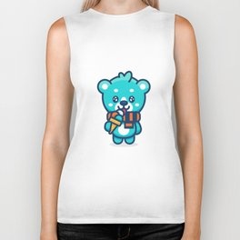 Ice Cream Bear Biker Tank