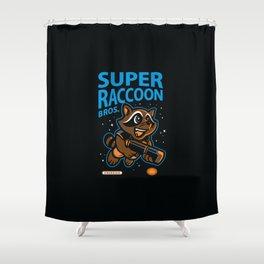Super Raccoon Shower Curtain