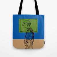 queens of the stone age Tote Bags featuring Age by Hazel Bellhop