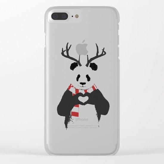 Xmas panda Clear iPhone Case