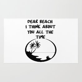 beach time funny saying Rug