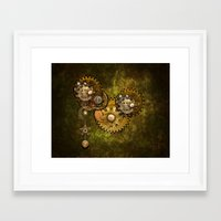 wall clock Framed Art Prints featuring Clock Wall 2 by Deborah DaNaan