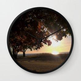 Nine Oclock Sunrise Kenosha Wall Clock