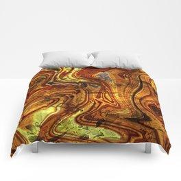 Citrine terrazzo Comforters