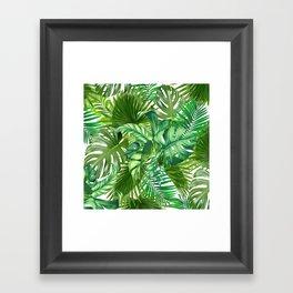 green tropic Framed Art Print