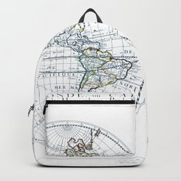 World map wall art 1651 dorm decor mappemonde Backpack