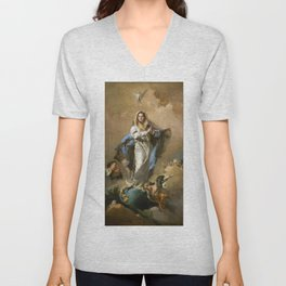 The Immaculate Conception by Giovanni Battista Tiepolo (c 1768) Unisex V-Neck