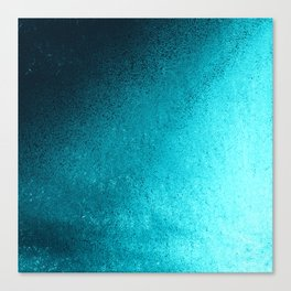 Modern abstract navy blue teal gradient Canvas Print