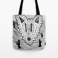 coyote Tote Bags featuring Coyote by Catolyn