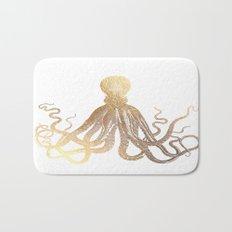 Gold Octopus  Bath Mat