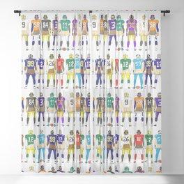 Football Butts Sheer Curtain
