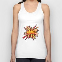 comic book Tank Tops featuring Comic Book POW! by Thisisnotme