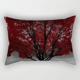 Red Tree, Grey Sky Rectangular Pillow