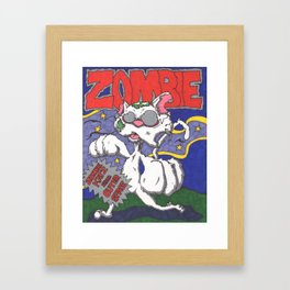 Zombie Kat Spoof Movie Poster Framed Art Print