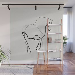 One line horse 0905 after a Tang Dynasty Tomb Pottery Wall Mural