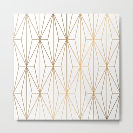 Gold Geometric Pattern Illustration Metal Print