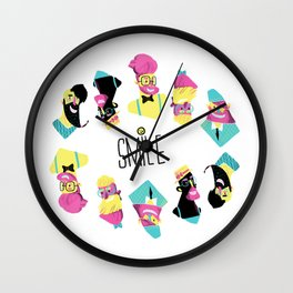 Hipster Smile Wall Clock