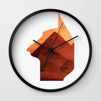 egypt Wall Clocks featuring Egypt by Mehdi Elkorchi