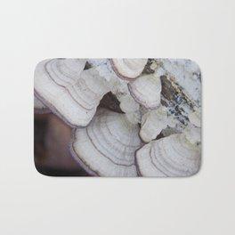 Purple and White  Bracket Fungus Bath Mat