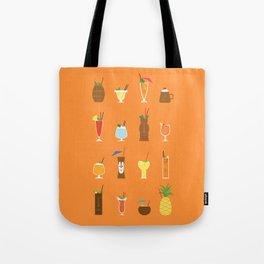 Tiki Drinks Tote Bag