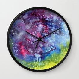 Abstract Galaxy Wall Clock