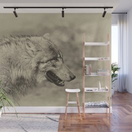 lonesome wolf Wall Mural