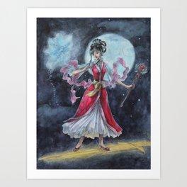 First Fight Magician Girl Art Print