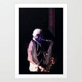 Saxophone Music Art Print