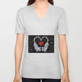 "KARAKUSA CAT'S ""LOVE"" Unisex V-Neck"