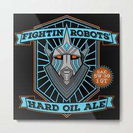Robot Oil Ale Brand Logo Metal Print