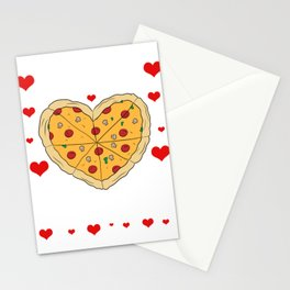 """Pizza Is My Valentine"" Snacks Food Shirt For Snack Lovers Pepperoni Mushroom Meatballs Cheese Stationery Cards"
