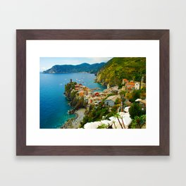 Vernazza Italy - Italian Riviera Framed Art Print