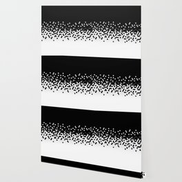 Flat Tech Camouflage Black and White Wallpaper
